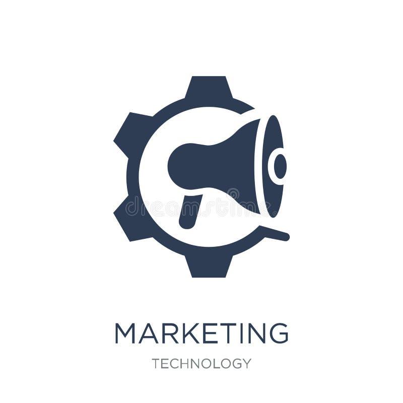 Значок автоматизации маркетинга Ультрамодное плоское automati маркетинга вектора иллюстрация вектора