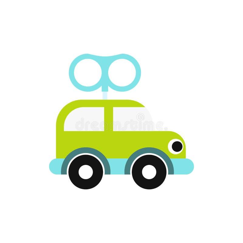 Значок автомобиля игрушки Clockwork иллюстрация штока