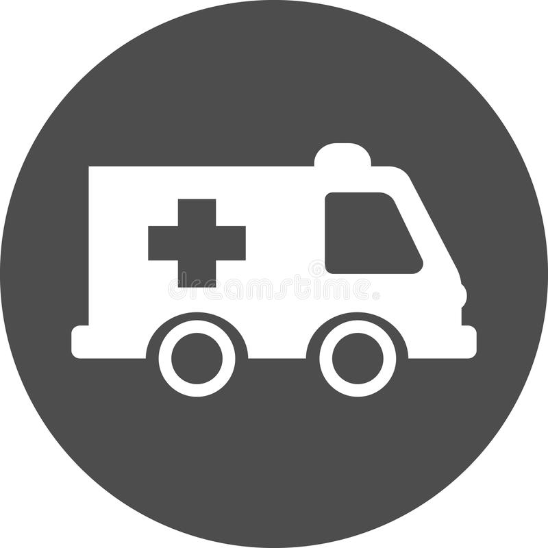 Значок автомобиля машины скорой помощи машины скорой помощи стоковое фото rf