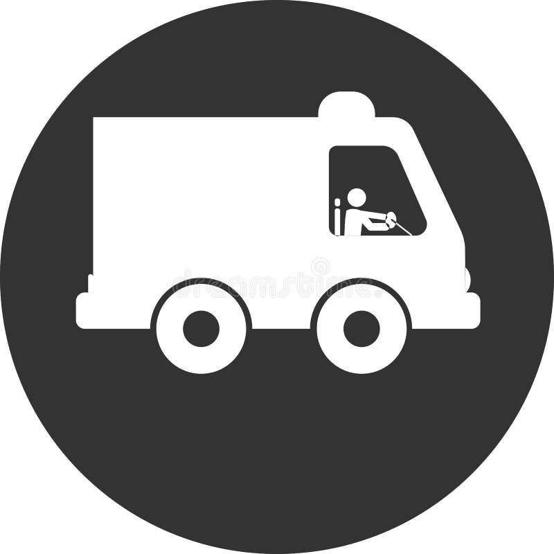 Значок автомобиля машины скорой помощи машины скорой помощи стоковое фото