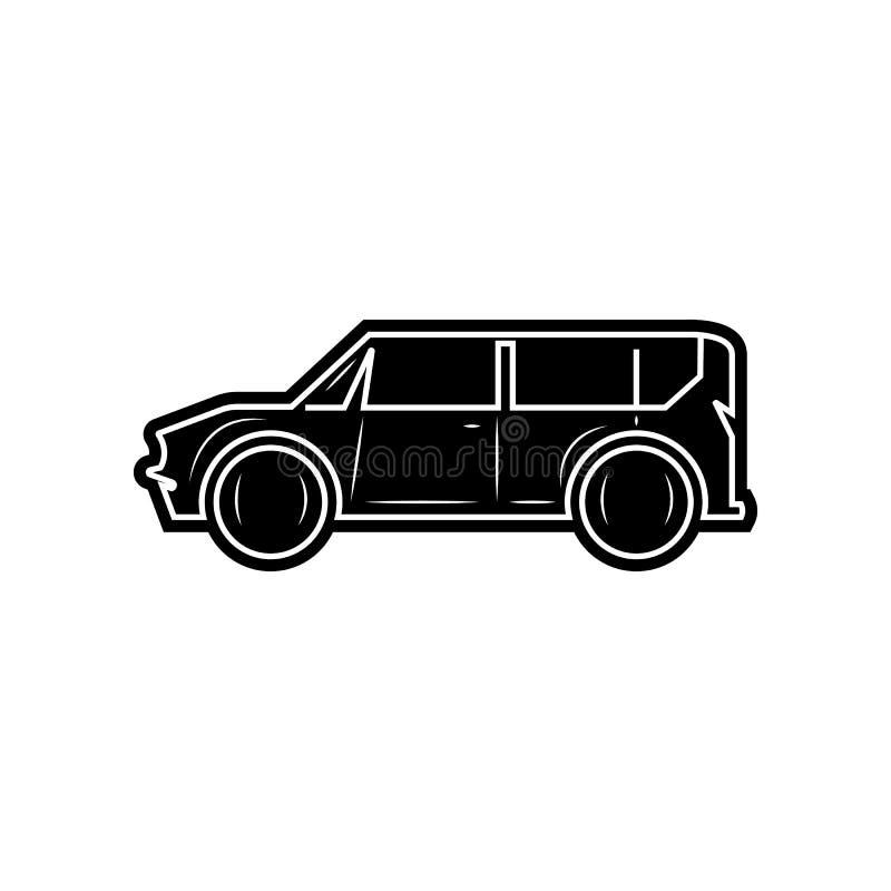 значок автомобиля минифургона Элемент автомобилей для мобильных концепции и значка приложений сети r иллюстрация штока