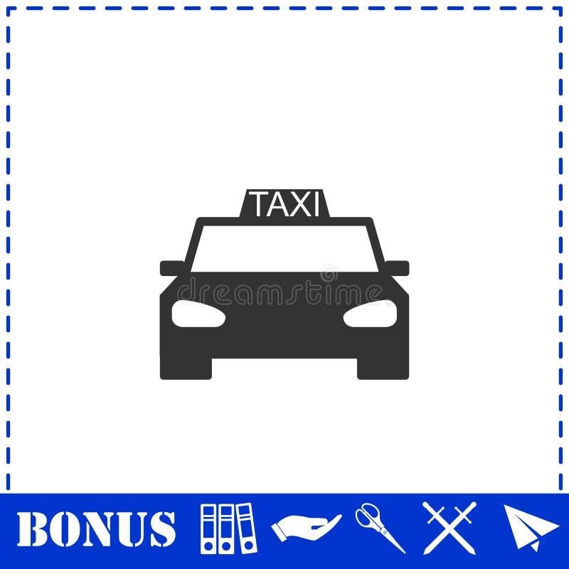 Значок автомобиля такси плоско иллюстрация вектора