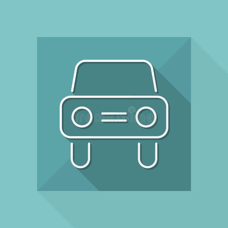 Значок автомобиля - тонкая серия иллюстрация штока