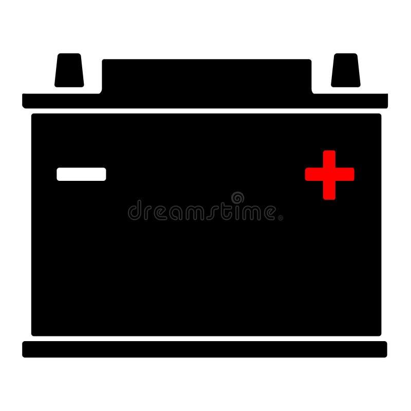 Значок автомобильного аккумулятора стоковое фото