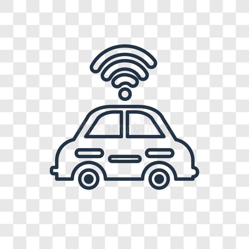 Значок автономного вектора концепции автомобиля линейный изолированный дальше transparen бесплатная иллюстрация