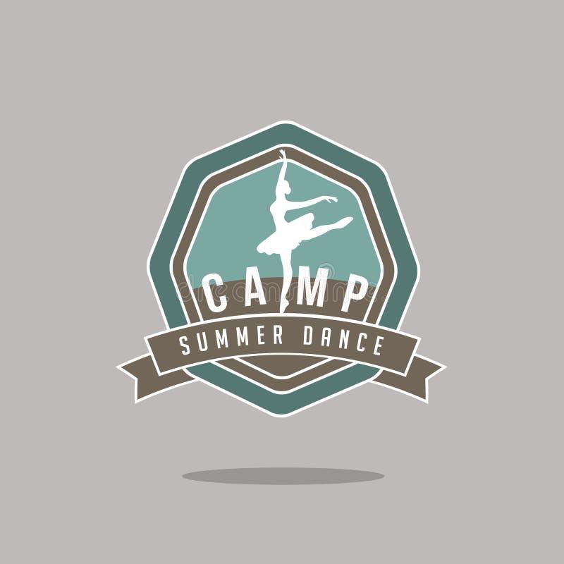 Значок лагеря танца лета иллюстрация вектора
