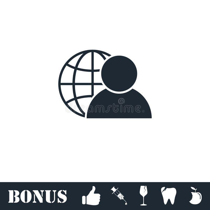 Значок администратора сети плоско бесплатная иллюстрация