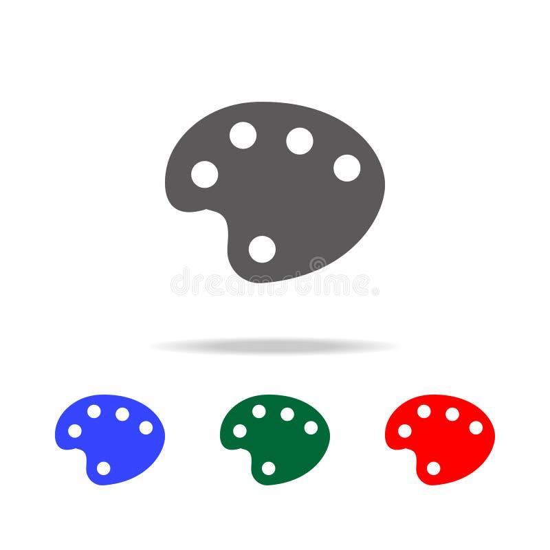 Значок акварели Элементы в multi покрашенных значках для передвижных apps концепции и сети Значки для дизайна вебсайта и развития иллюстрация штока
