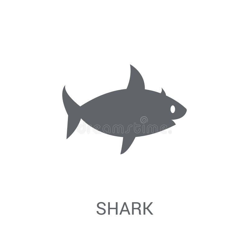 Значок акулы  иллюстрация штока