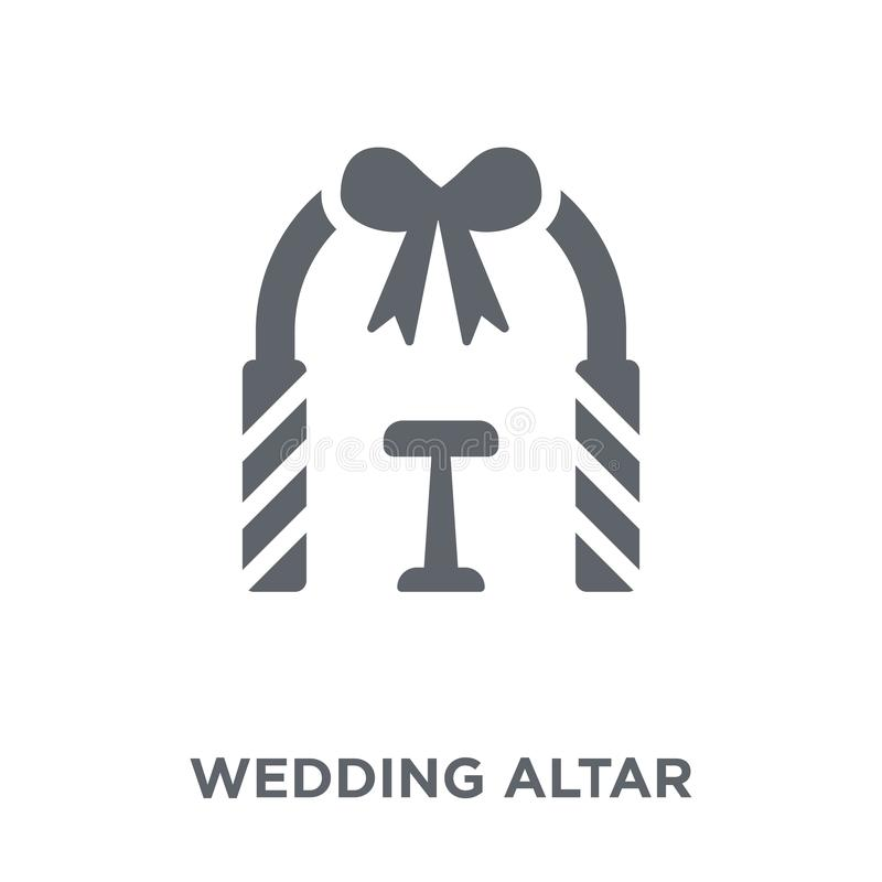 значок алтара свадьбы от собрания свадьбы и любов бесплатная иллюстрация