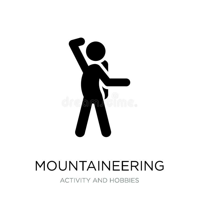 значок альпинизма в ультрамодном стиле дизайна значок альпинизма изолированный на белой предпосылке значок вектора альпинизма про иллюстрация штока