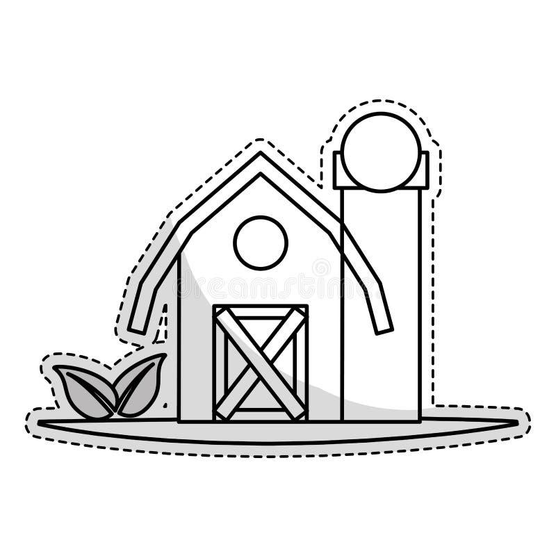 Download Значок амбара фермы иллюстрация вектора. иллюстрации насчитывающей весна - 81803303