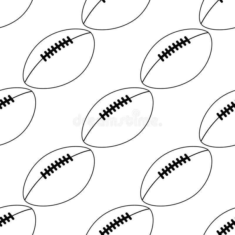 Значок американского футбола изолированный на белой предпосылке также вектор иллюстрации притяжки corel линия стиль картина шарик бесплатная иллюстрация