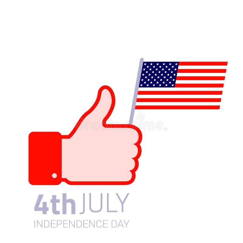 Download Значок американского флага владением большого пальца руки поднимающий вверх Иллюстрация вектора - иллюстрации насчитывающей иллюстрация, цветы: 41656739