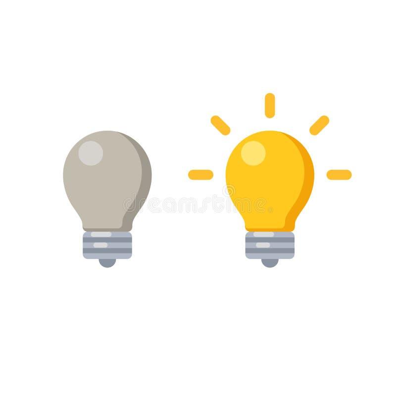 Значок лампочки иллюстрация штока