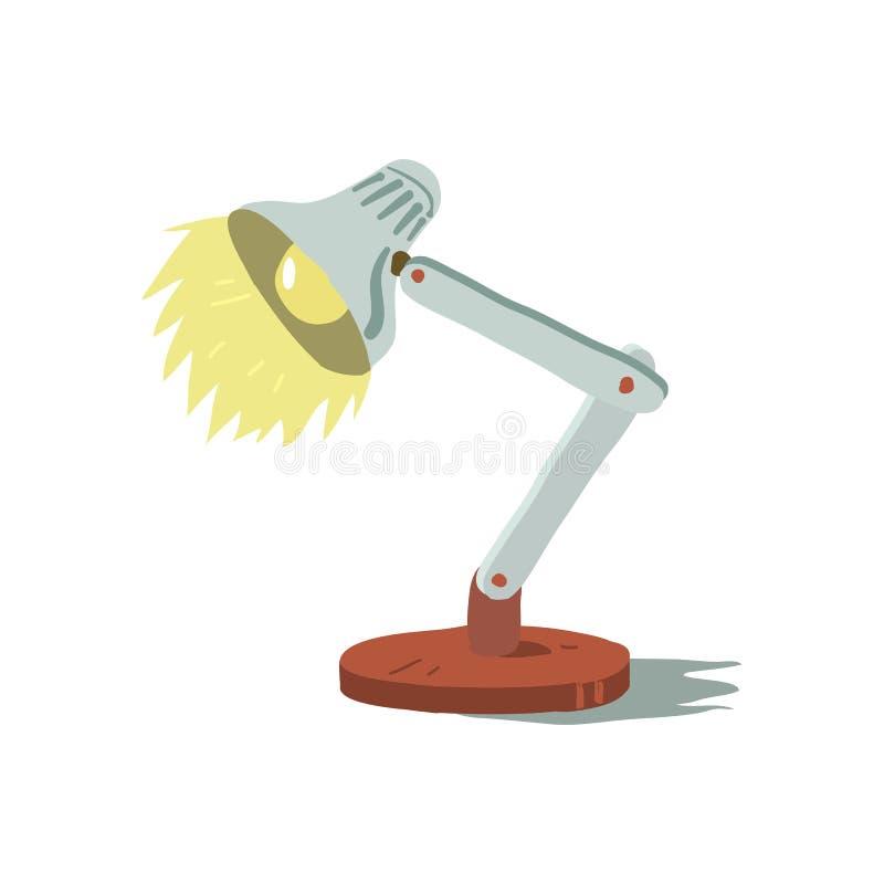 Значок лампы шаржа вектора крошечный милый иллюстрация вектора