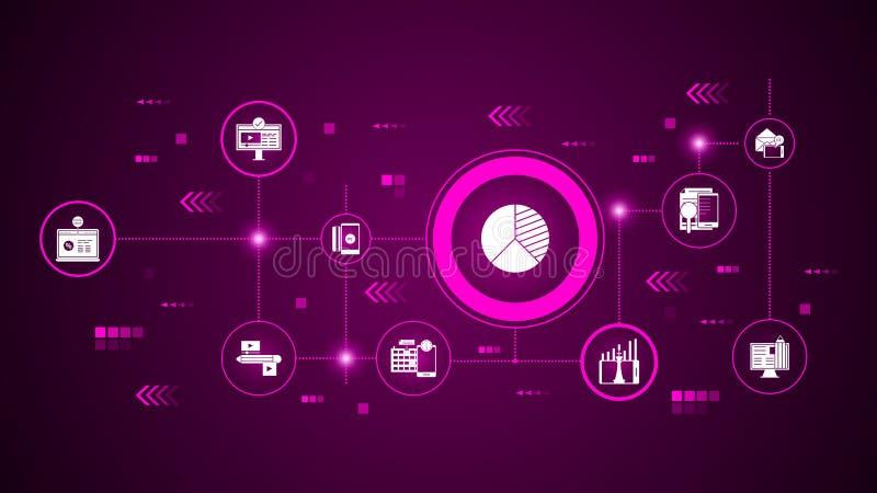 значок анализа преимущэств От маркетинга цифров, набор продвижения бесплатная иллюстрация