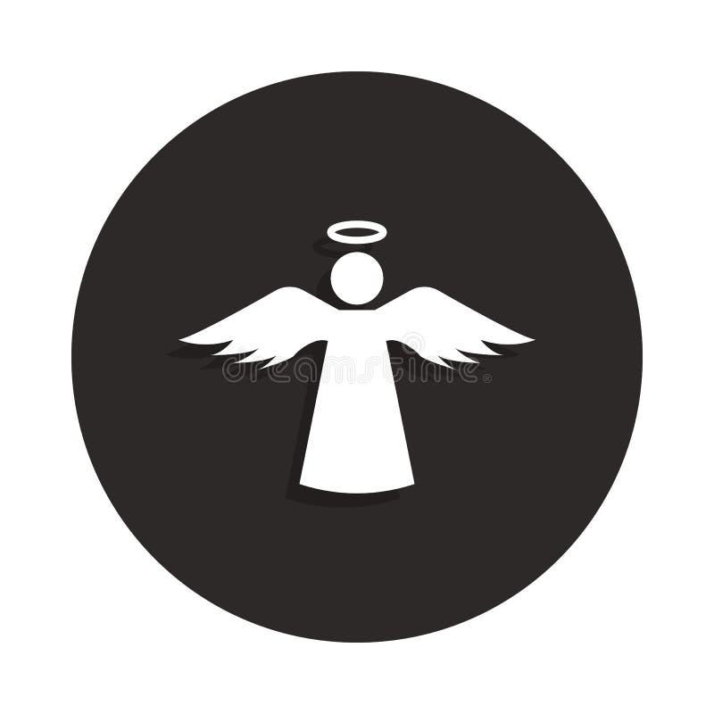 Значок Анджела с святым значком в стиле значка Одно значка собрания смерти можно использовать для UI, UX бесплатная иллюстрация