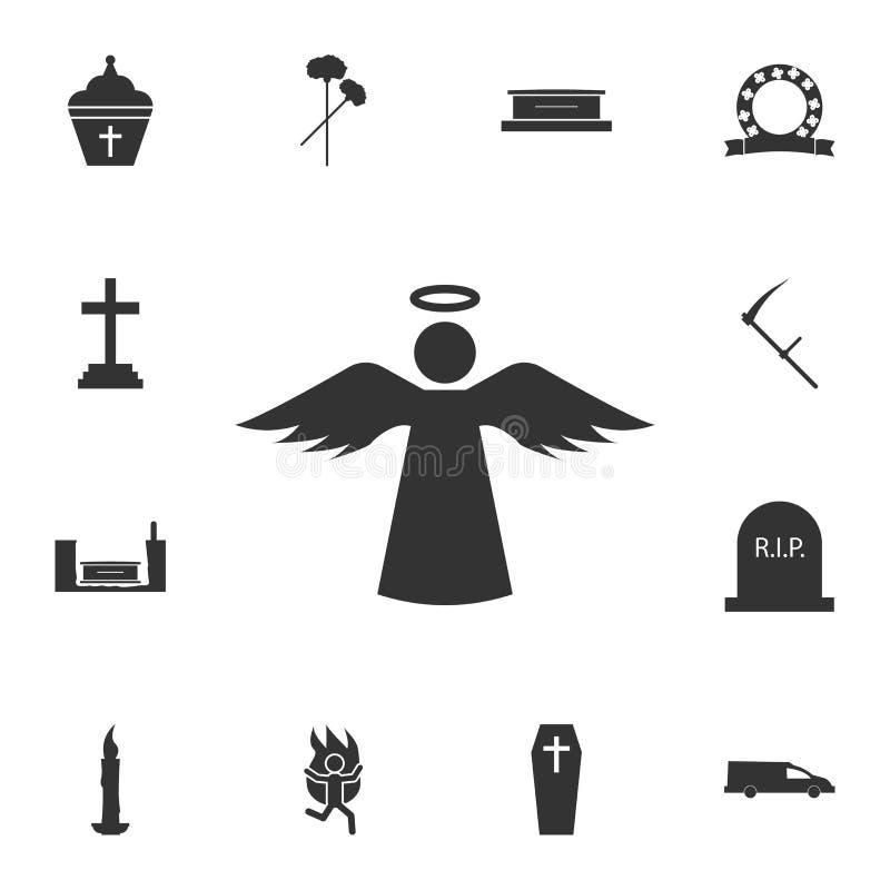Значок Анджела с святым значком Детальный комплект значков смерти Наградной качественный графический дизайн Один из значков собра бесплатная иллюстрация