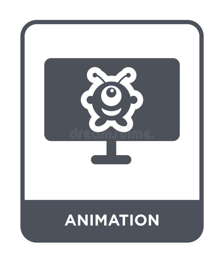 значок анимации в ультрамодном стиле дизайна значок анимации изолированный на белой предпосылке квартира значка вектора анимации  иллюстрация штока