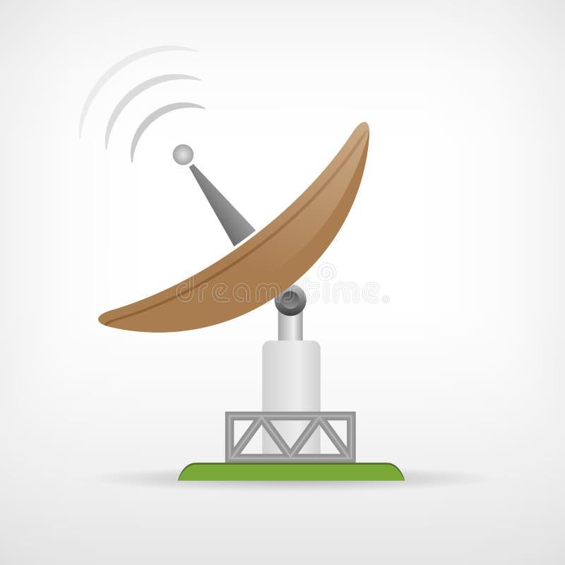 Значок антенны спутниковой связи параболистический бесплатная иллюстрация