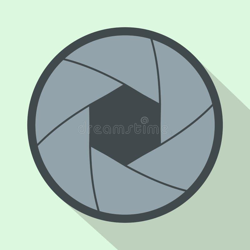 Значок апертуры камеры в плоском стиле бесплатная иллюстрация