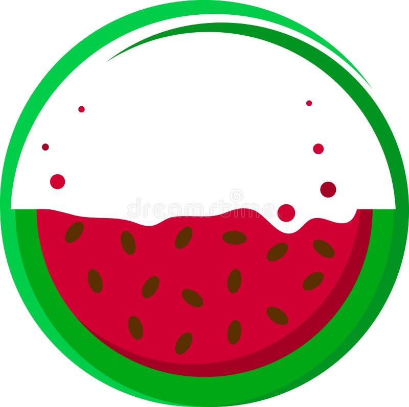 Значок арбуза стоковая фотография rf