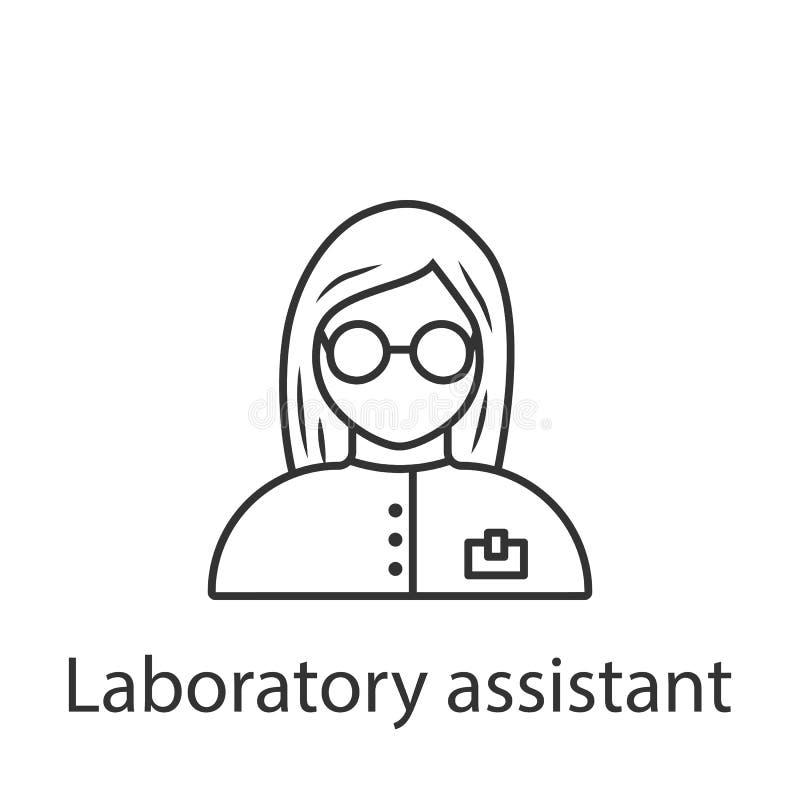 Значок ассистента лаборатории Элемент значка воплощения профессии для мобильных приложений концепции и сети Детальный значок асси иллюстрация вектора