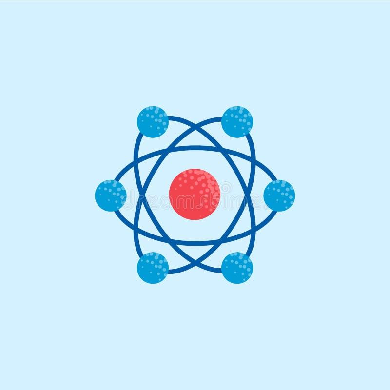 Значок атома, иллюстрация молекулы бесплатная иллюстрация