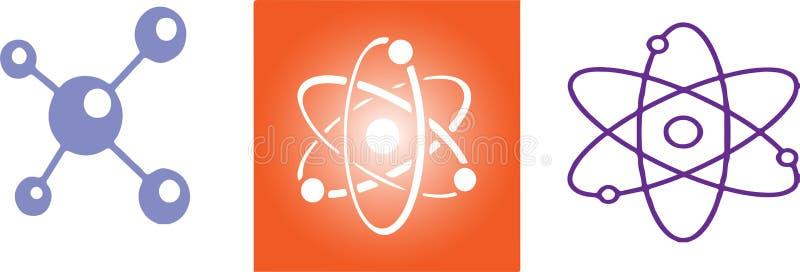 Значок атома на белой предпосылке бесплатная иллюстрация