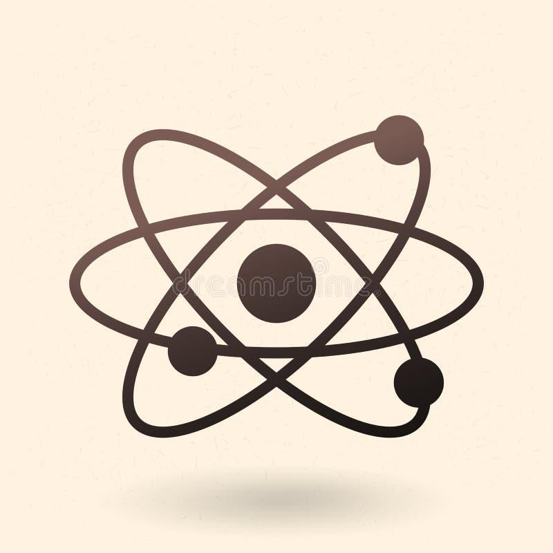Значок атома силуэта вектора черный бесплатная иллюстрация