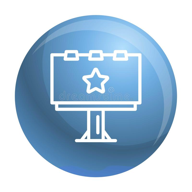 Значок афиши, стиль плана иллюстрация вектора
