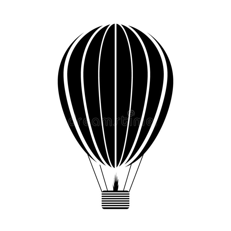 Значок аэростата на белизне иллюстрация вектора