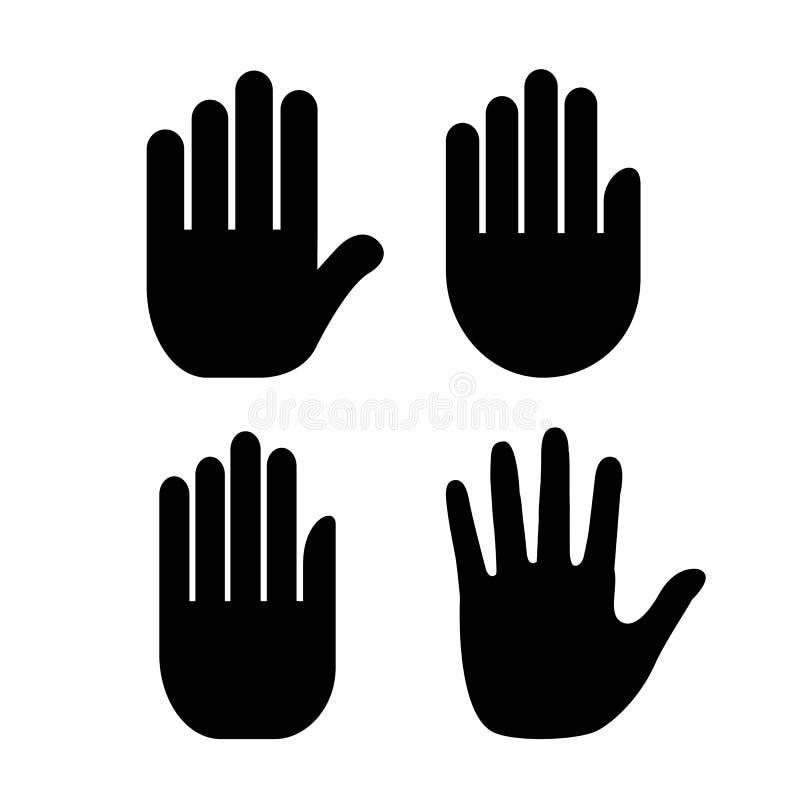 Значок ладони руки иллюстрация штока