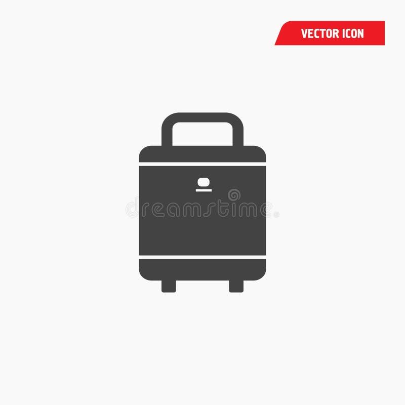 Значок багажа аэропорта стоковое изображение