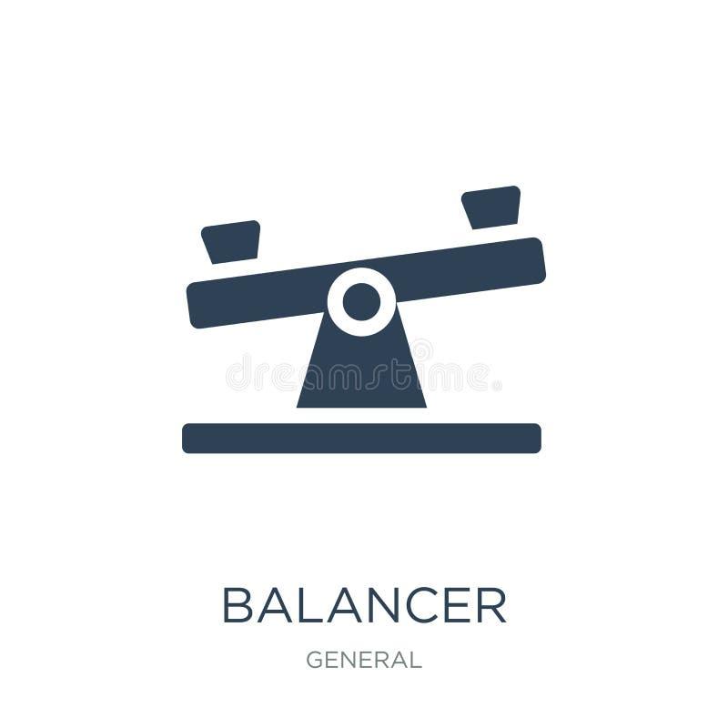 значок балансера в ультрамодном стиле дизайна значок балансера изолированный на белой предпосылке квартира значка вектора балансе иллюстрация вектора