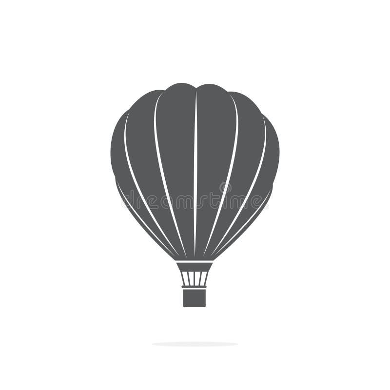 Значок баллона воздуха на белой предпосылке иллюстрация штока