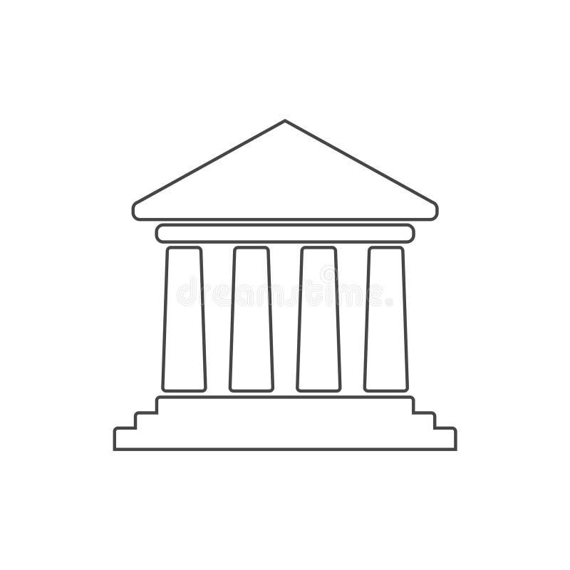 Значок банка иллюстрация штока