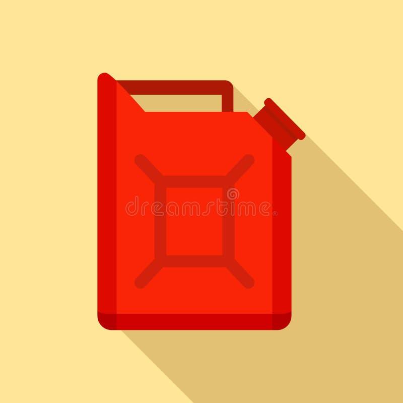 Значок банки топлива автомобиля, плоский стиль бесплатная иллюстрация