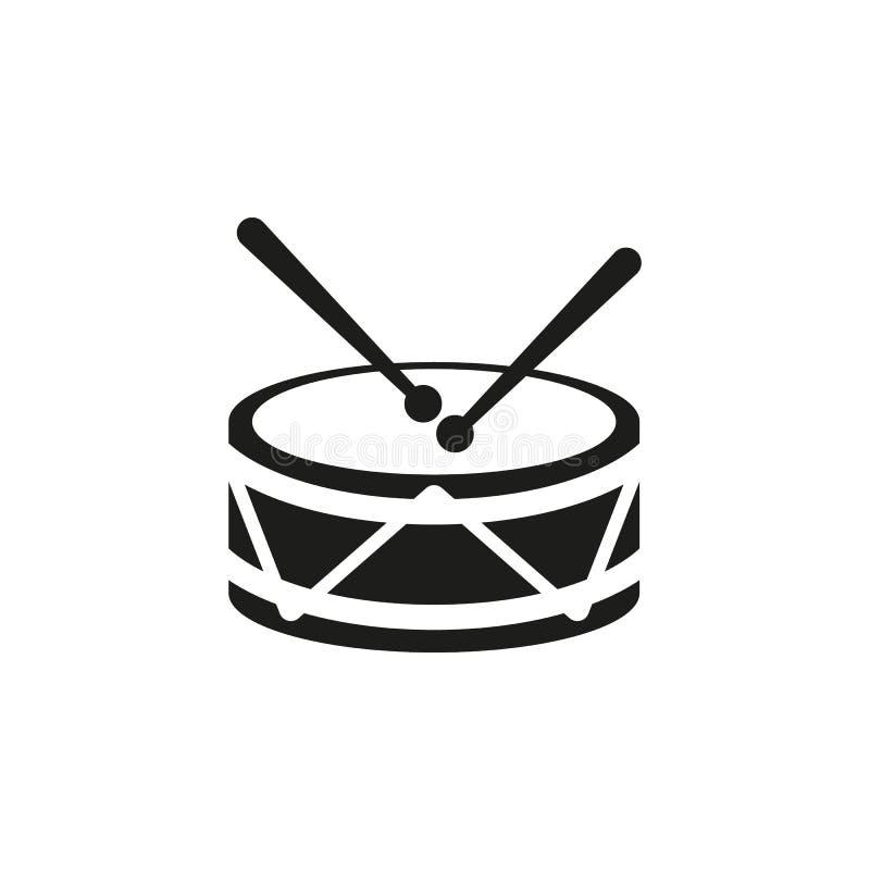 Значок барабанчика Конструкция Музыка и символ игрушки Веб график ai _ логос предмет плоско изображение Знак EPS искусство изобра бесплатная иллюстрация