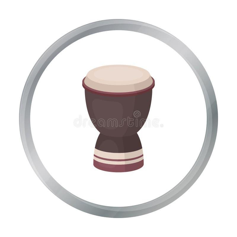 Значок барабанчика кубка в стиле шаржа изолированный на белой предпосылке Иллюстрация вектора запаса символа Турции иллюстрация штока