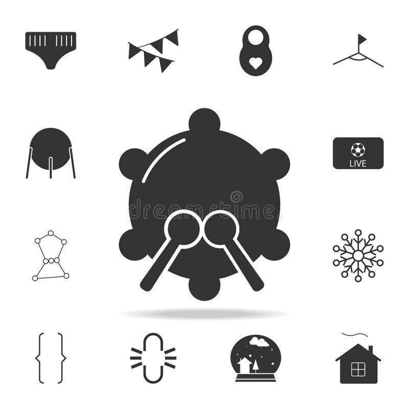 Значок барабанчика тенет Детальный комплект значков сети Наградной качественный графический дизайн Один из значков собрания для в бесплатная иллюстрация