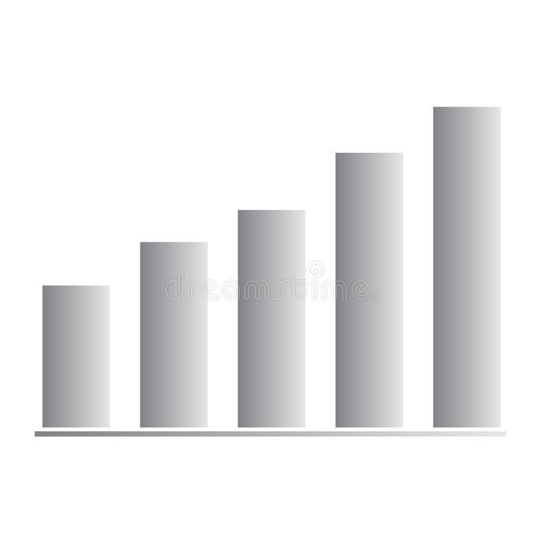 Значок бара диаграммы растя на белой предпосылке r значок для вашего дизайна вебсайта, логотип бара диаграммы растя, приложение,  иллюстрация вектора