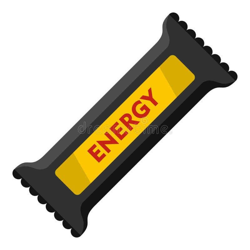Значок бара энергии, плоский стиль иллюстрация штока