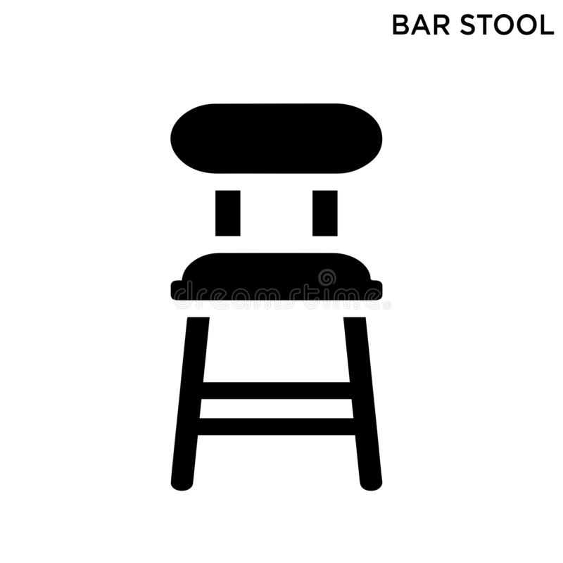 Значок барного стула иллюстрация вектора