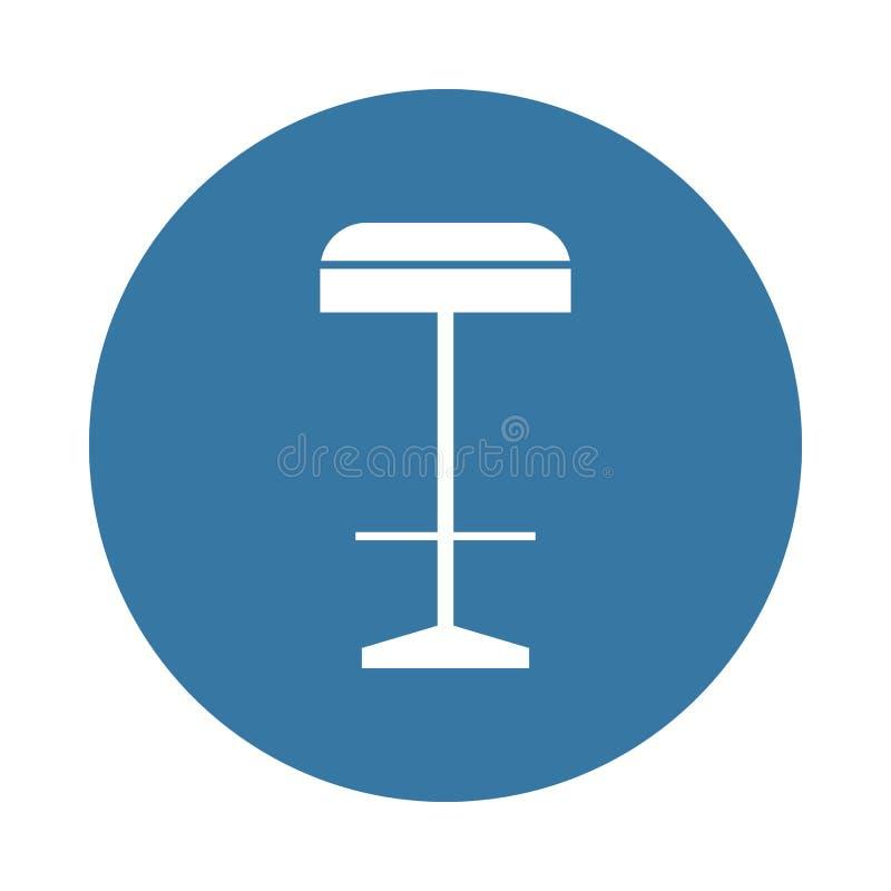 Значок барного стула Элемент значков мебели для передвижных apps концепции и сети Значок барного стула стиля значка можно использ иллюстрация вектора
