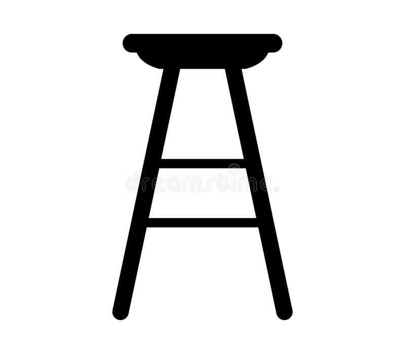 Значок барного стула иллюстрация штока
