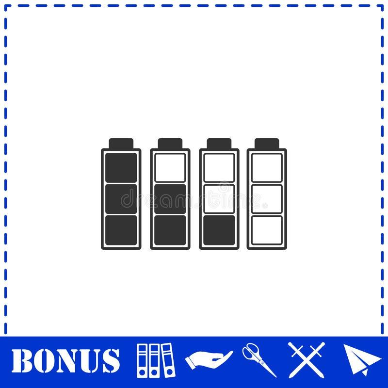 Значок батареи плоский иллюстрация вектора