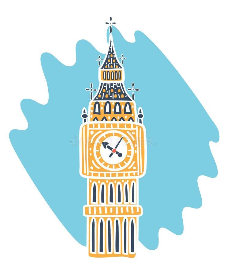 Значок башни большого Бен иллюстрация штока