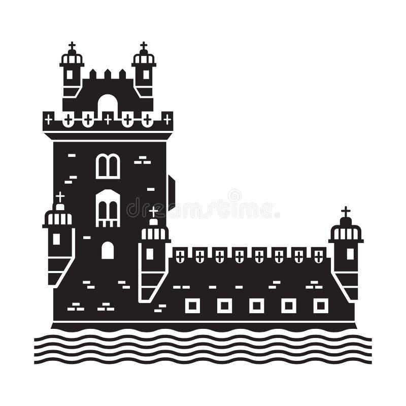 Значок башни Лиссабона Belem бесплатная иллюстрация